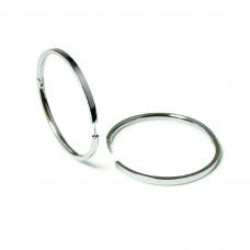 Boccia Titanium creolen poli 40mm 0508-03 - 89910