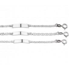 Zilver figaro ketting - 84165