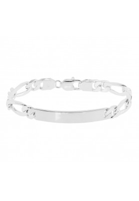 Zilver figaro plaatband - 87866