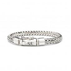 bracelet silver, &  leather - 87913