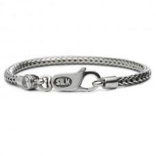 Silk bracelet silver & gemstone white - 87300