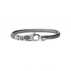 Silk bracelet silver - 87302