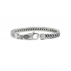 Silk bracelet silver - 87305