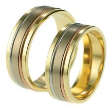 relatieringen, 3 KLEUREN goud DIAMANTJE LOS - 65904