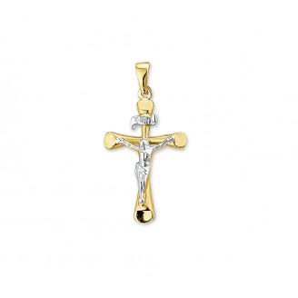 Geelgoud kruis met c - 86124
