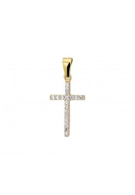Geelgoud kruis bedel - 86181
