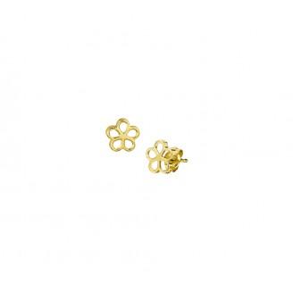 14 krt bloem oorsteker - 86192