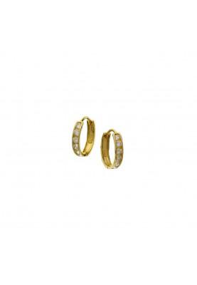14krt zirc. creool 11x2.3mm - 85662