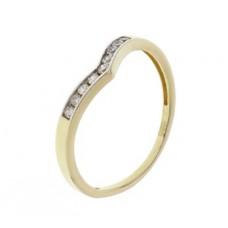 14krt V-ring zirc - 85676