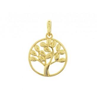 14 krt gouden levensboom 11mm - 88995