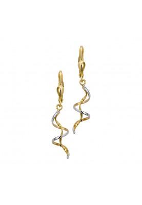Goud bicolor GW oorh - 90613