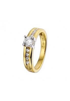 Goud bicolor GW dame - 85688