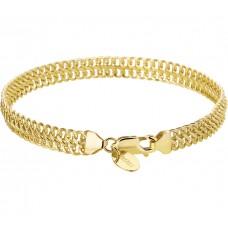 14krt Geelgoud /zilverkern Franse gourmet armband - 85709
