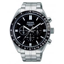 Heren chronograaf horloge zwart - 89843