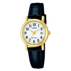 dames double leer horloge - 89845