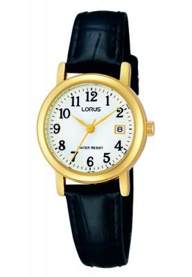 Lorus dames double leer horloge - 89845